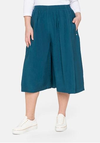 Sheego Culotte, mit aufwendigen Falten und Eingrifftaschen kaufen