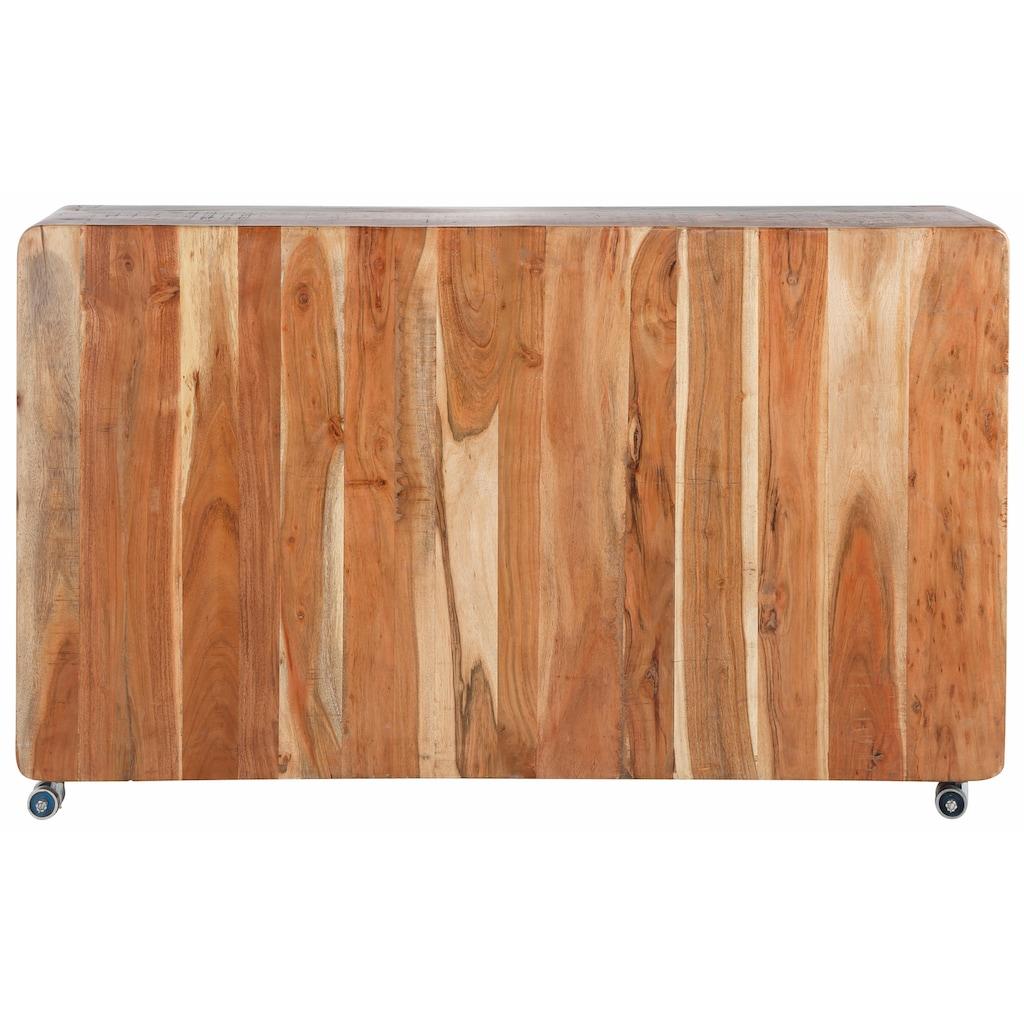 SIT Sideboard »Fridge«, Breite 150 cm, mit Kühlschrankgriffen, Shabby Chic, Vintage