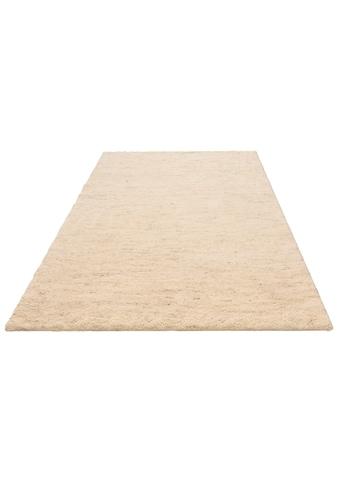 DELAVITA Wollteppich »Mohan«, rechteckig, 25 mm Höhe, reine Wolle, Woll-Shaggy, handgeknüpft, Wohnzimmer kaufen