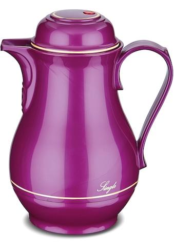 ROTPUNKT Isolierkanne »Shiny Grape«, 0,5 l, mit goldfarbiger Umrandung kaufen