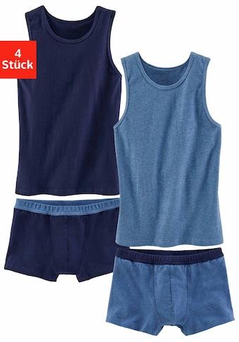 AUTHENTIC UNDERWEAR Set: Unterhemd (4 Teilig) mit Boxer kaufen