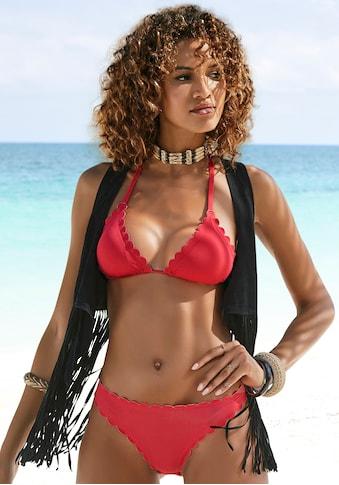 LASCANA Triangel-Bikini-Top »Scallop«, mit gelaserter Wellenkannte kaufen