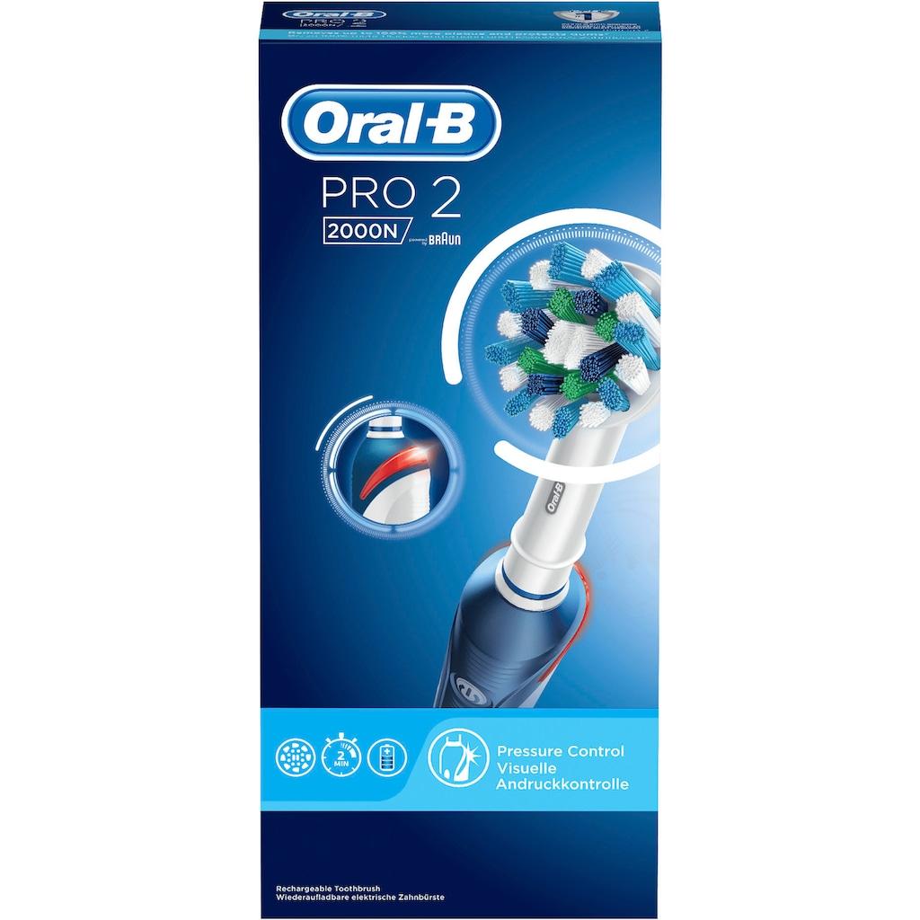 Oral B Elektrische Zahnbürste »PRO 2 2000N«, 1 St. Aufsteckbürsten