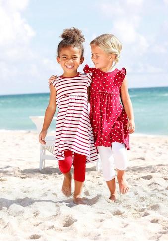 KIDSWORLD Jerseykleid, (Packung, 2 tlg.), mit Punkten und Streifen kaufen