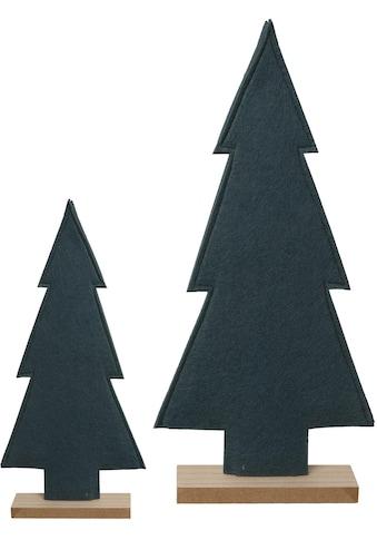 my home Dekobaum, Filz-Bäume mit Holzfuss kaufen