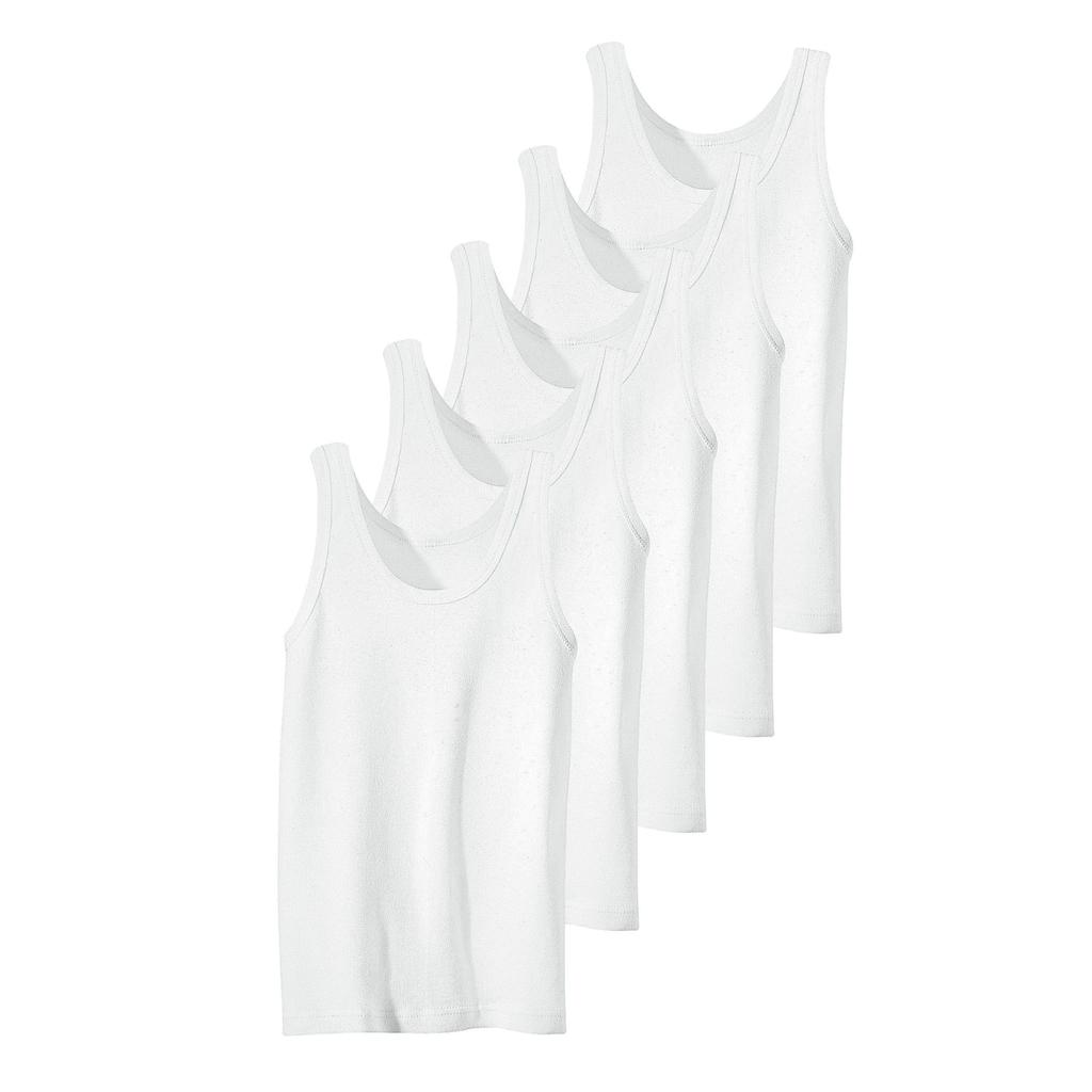 Unterhemd, (5 St.), Feinripp-Qualität, reine Baumwolle