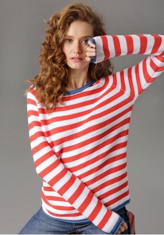 Aniston CASUAL Rundhalspullover, im Streifendessin kaufen