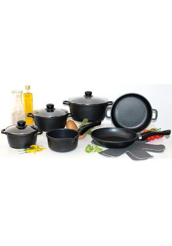 Elo - Meine Küche Topf-Set, Aluminiumguss, (Set, 10 tlg., 4 Töpfe, 3, Deckel, 2... kaufen