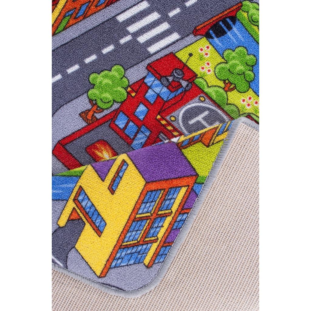 Andiamo Kinderteppich »Strasse«, rechteckig, 5 mm Höhe, Strassen-Spielteppich, Strassenbreite: 8,5 cm, Kundenliebling mit 4,5 Sterne-Bewertung