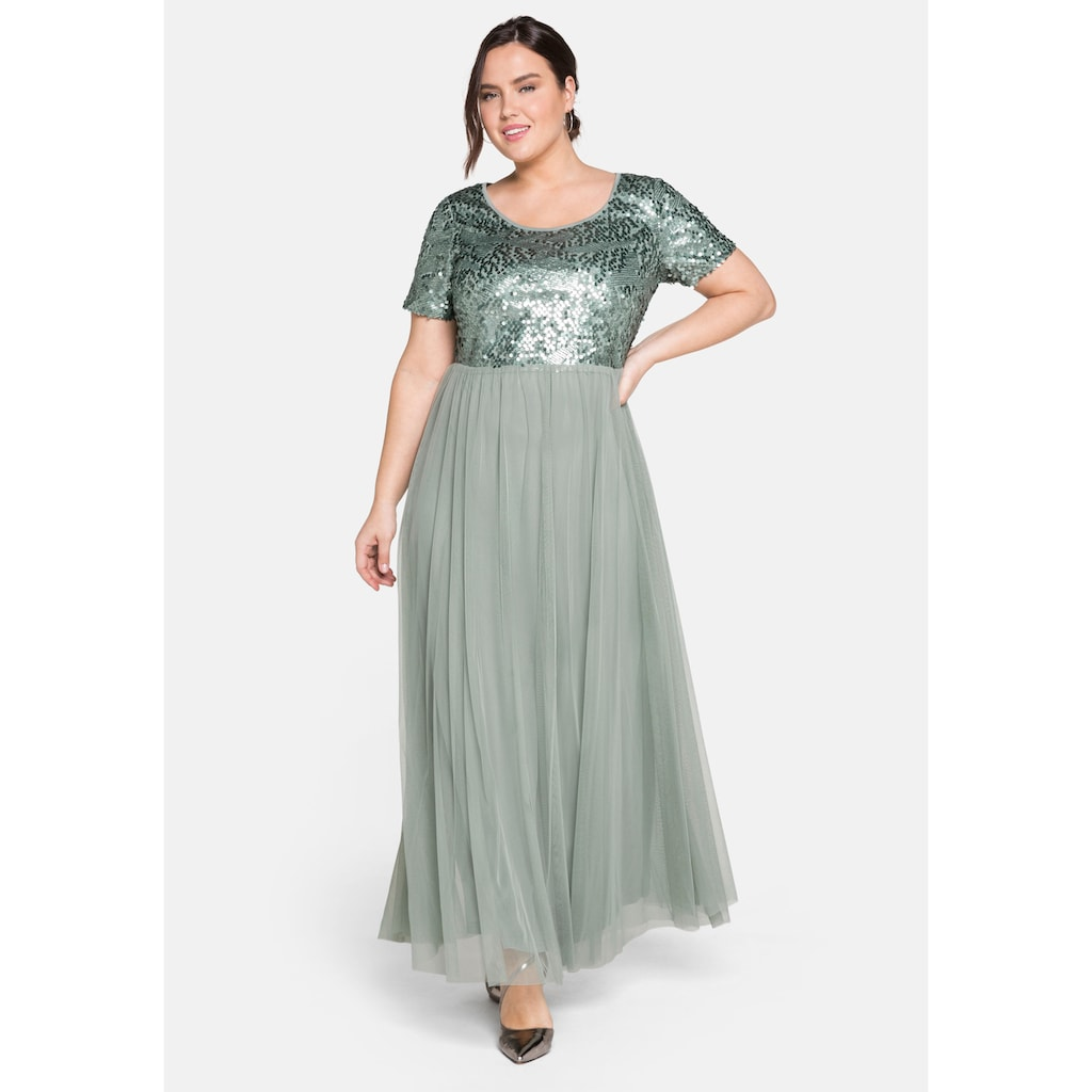 Sheego Abendkleid, mit Pailletten