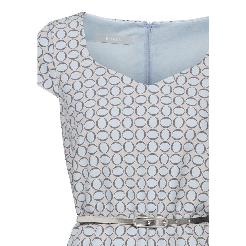 bianca Etuikleid »DIDY«, im femininen Minimal-Print mit Gürtel