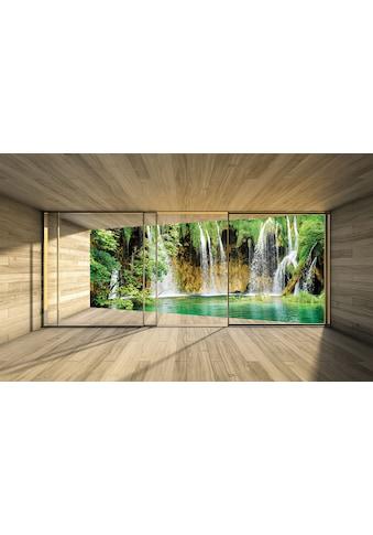 CONSALNET Vliestapete »Wasserfall Terrasse«, verschiedene Motivgrössen, für das Büro oder Wohnzimmer kaufen