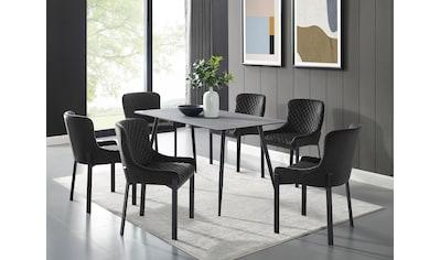 Places of Style Esstisch »Irving«, Tischplatte in Schieferoptik kaufen