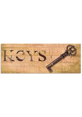 Artland Schlüsselbrett »Schlüssel«, aus Holz mit 4 Schlüsselhaken – Schlüsselboard,... kaufen