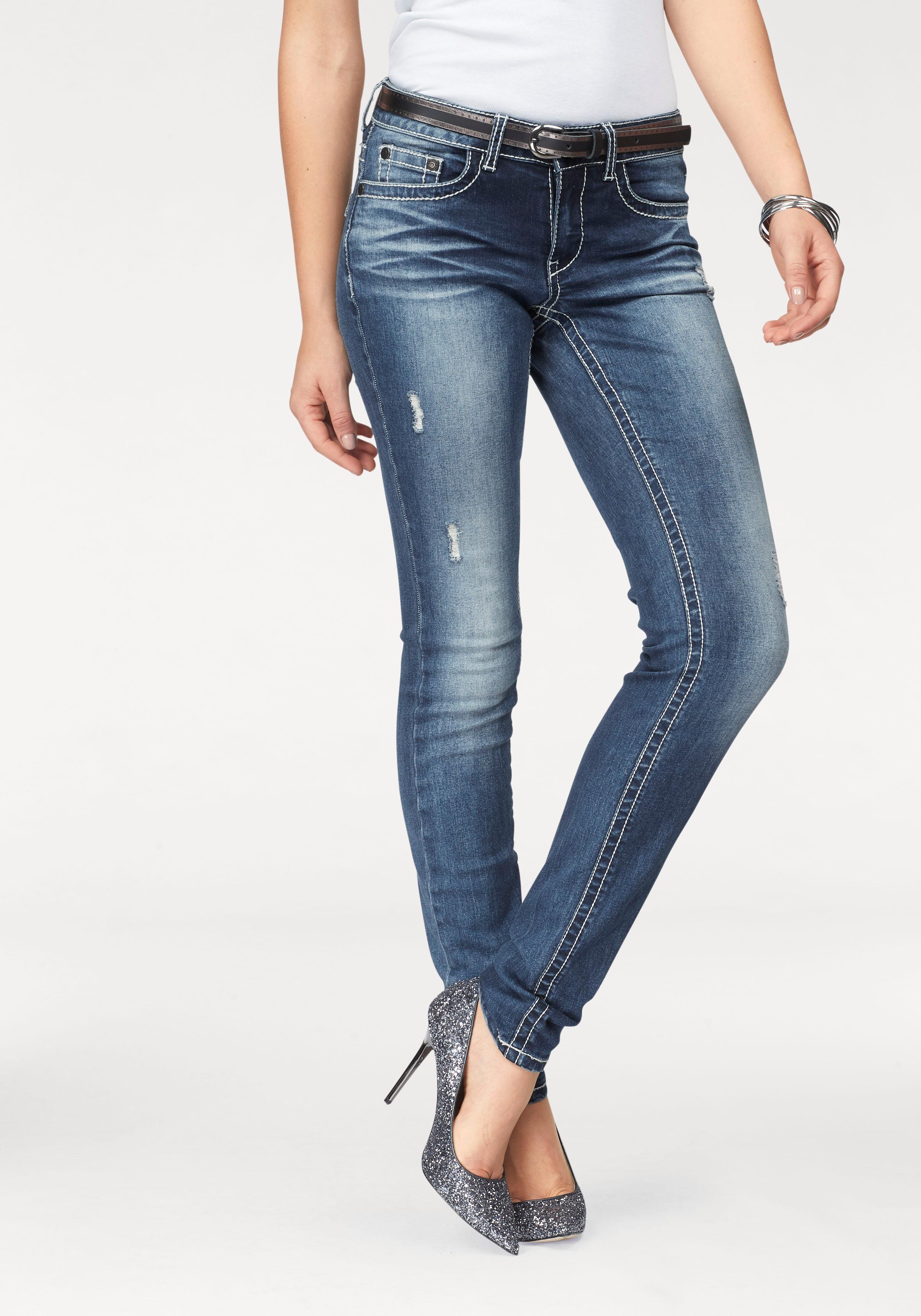 Image of Arizona Skinny-fit-Jeans »mit Kontrastnähten und Pattentaschen«