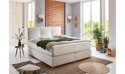 grüne betten Boxspringbett »Alina«, mit Tonnentaschenfederkern-Matratze, 100% vegan kaufen