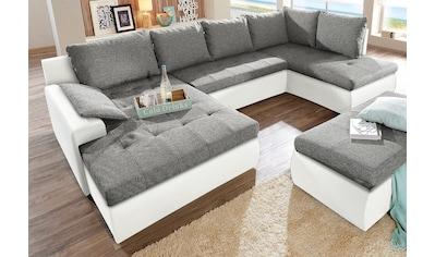 sit&more Wohnlandschaft, wahlweise in XL oder XXL, inklusive Bettfunktion und... kaufen