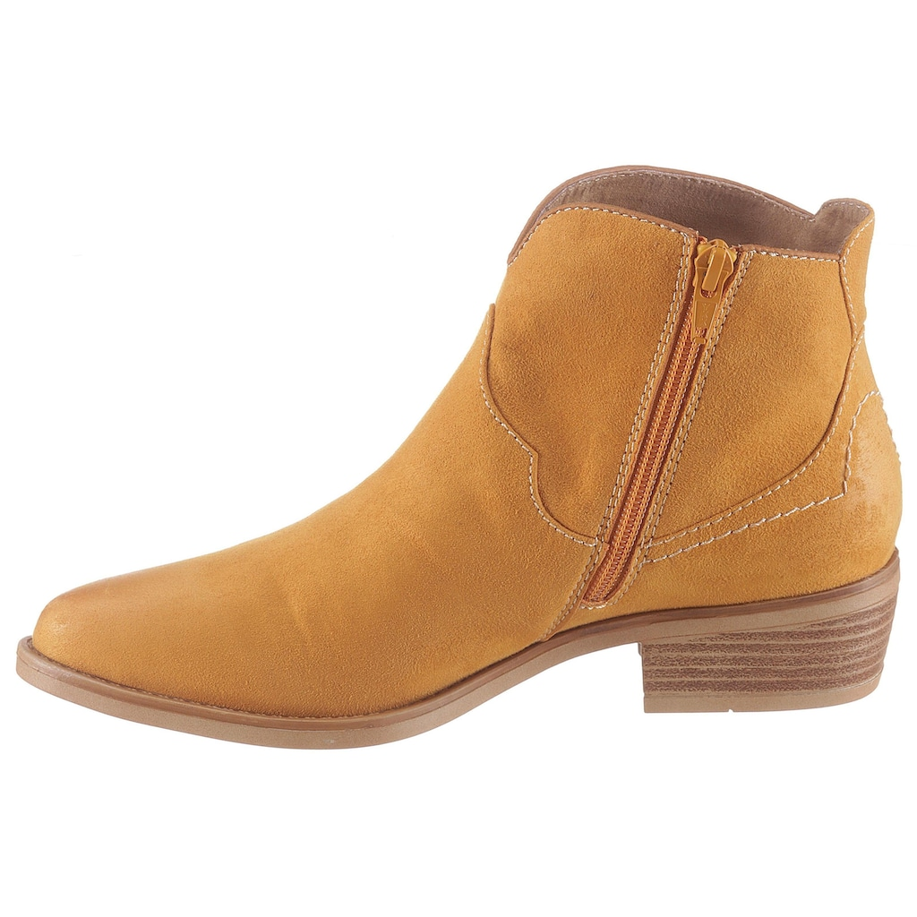 s.Oliver Cowboy Stiefelette, in knalliger Farbe
