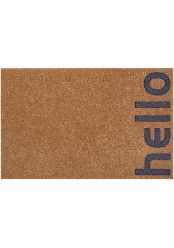 andas Fussmatte »Hello klein«, rechteckig, 10 mm Höhe, Schmutzfangmatte, mit Spruch,... kaufen