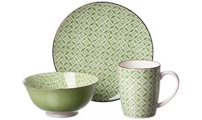 """Ritzenhoff & Breker Frühstücks - Set """"Lime Sao"""" (3 - tlg.), Steinzeug kaufen"""