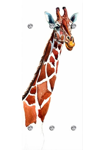queence Garderobenpaneel »Giraffe«, mit 6 Haken, 50 x 120 cm kaufen