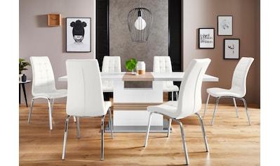 Essgruppe »Perez/Lila«, (Set, 5 tlg.), mit 4 Stühlen, Tisch ausziehbar, Breite 160-200 cm kaufen