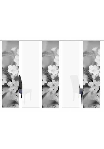 HOME WOHNIDEEN Schiebegardine »5ER SET NILA«, HxB: 245x60, Schiebevorhang 5er Set... kaufen