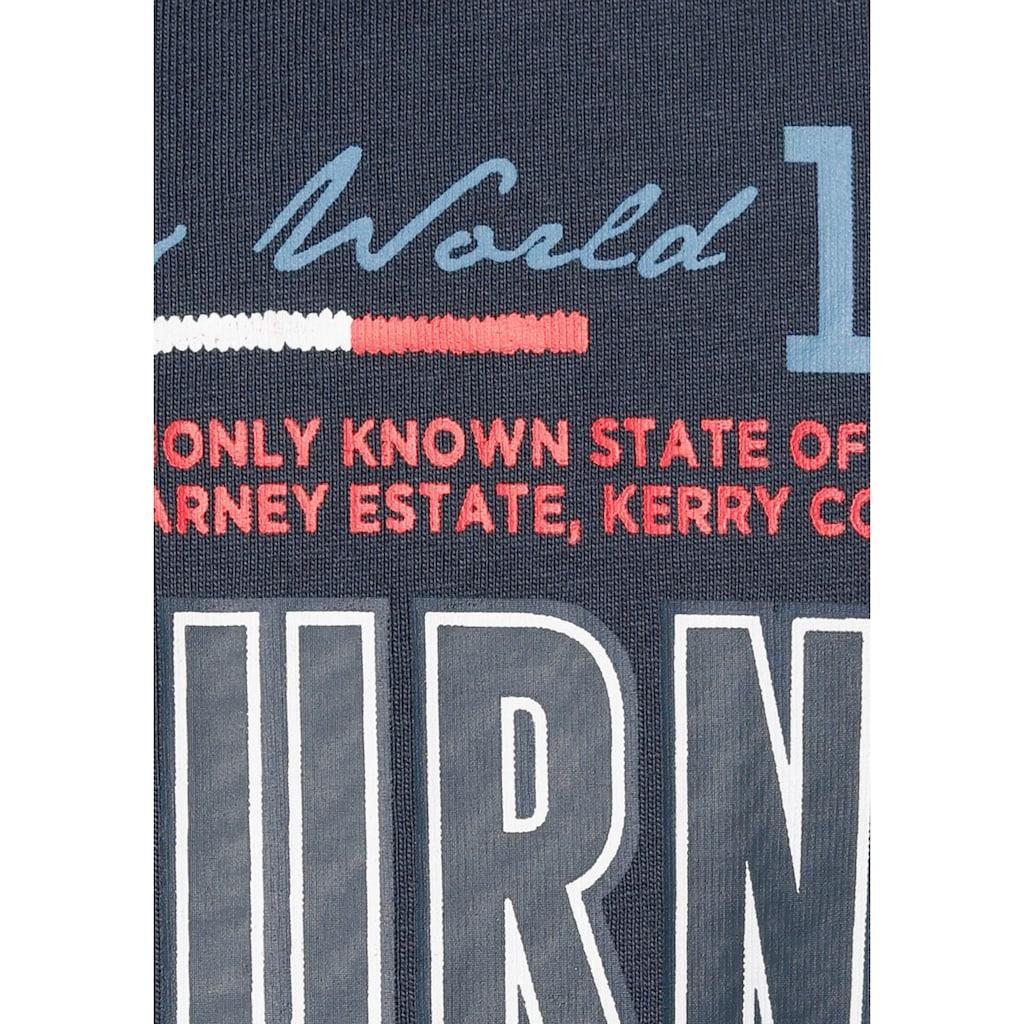 Man's World Langarm-Poloshirt, mit aufwendigem Front- Print