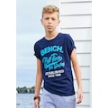 Bench. T-Shirt »Best time for surfing«