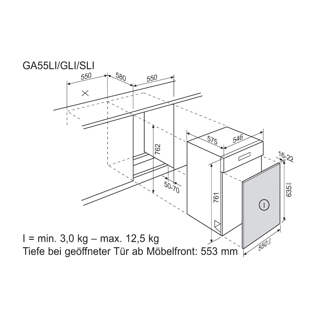 Elektrolux teilintegrierbarer Geschirrspüler »GA55LIWE A+++«, GA55LIWE