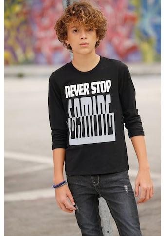 Arizona Langarmshirt »Never stop...« acheter