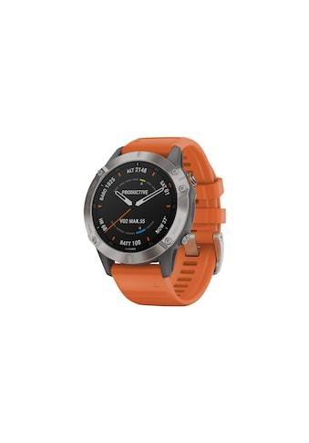 Garmin Smartwatch »fenix 6 Sapphire Orange/Silberfarben«,  kaufen