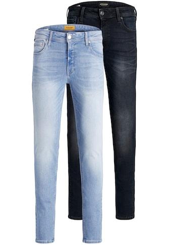 Jack & Jones Skinny-fit-Jeans »LIAM ORIGINAL«, (Packung, 2 tlg., 2er-Pack), 2er Packung kaufen