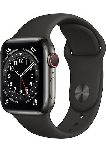 Apple Smartwatch »Watch Series 6 GPS + Cellular, 40 mm«, (Watch OS inkl. Ladestation... kaufen