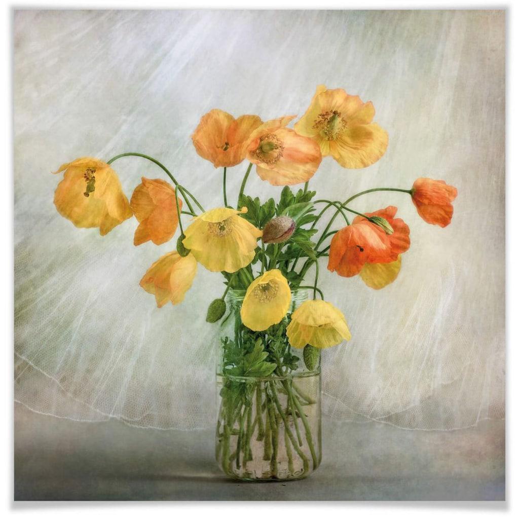 Wall-Art Poster »Mohnblumen im Glas«, Blumen, (1 St.)