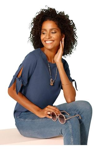 Classic Basics Shirt mit kleinem Schlitz und Bindeband kaufen