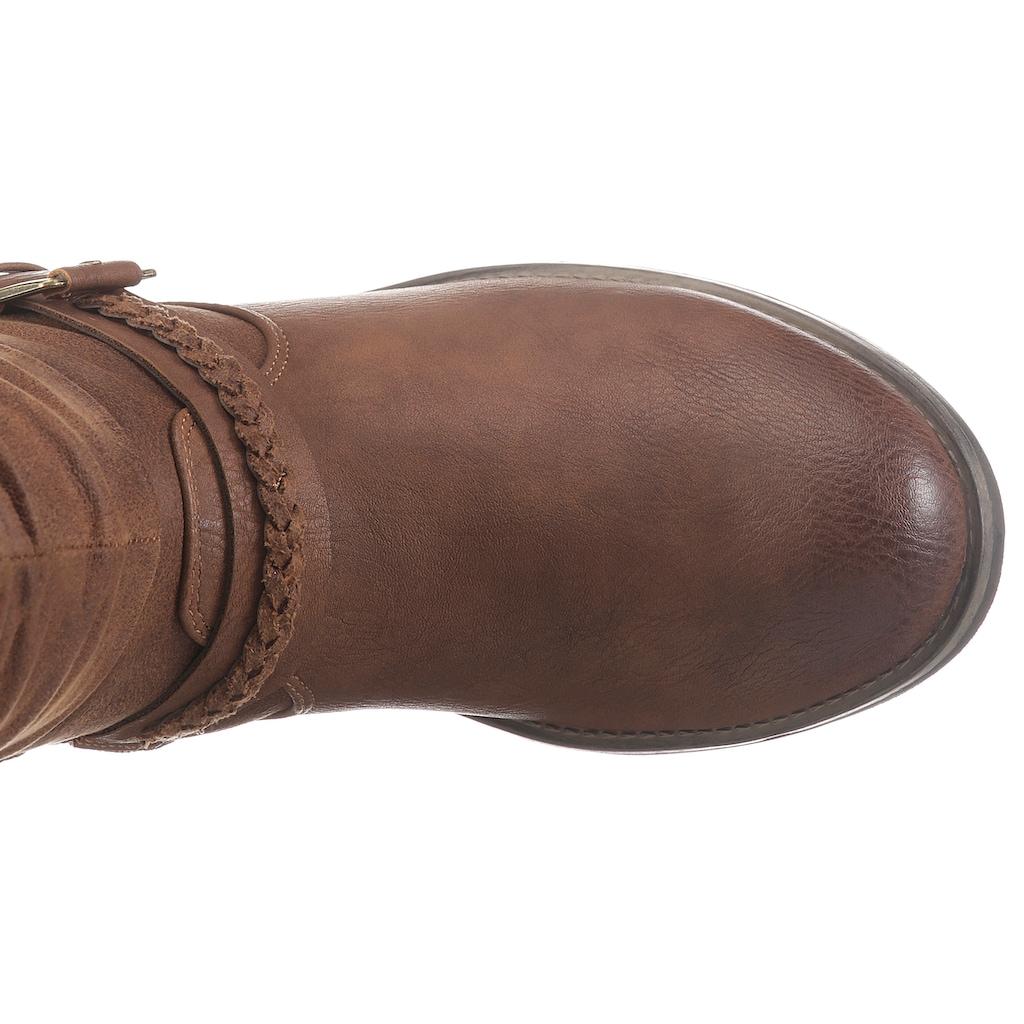 Rieker Stiefel, mit gerafftem Schaft