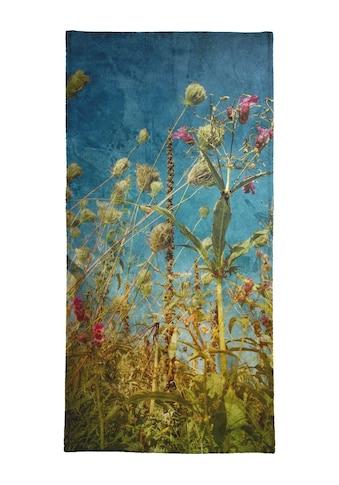 Juniqe Strandtuch »Heat Flowers«, (1 St.), Weiche Frottee-Veloursqualität kaufen