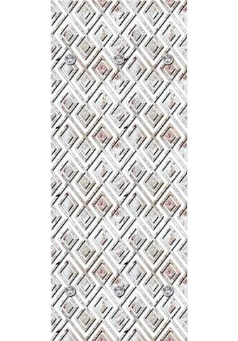 queence Garderobenpaneel »Rauten«, mit 6 Haken, 50 x 120 cm kaufen