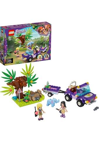 LEGO® Konstruktionsspielsteine »Rettung des Elefantenbabys mit Transporter (41421), LEGO® Friends«, (203 St.) kaufen