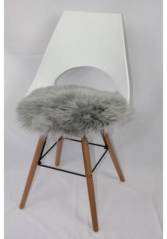 Heitmann Felle Stuhlkissen »Sitzauflage Lamm rund«, echtes Lammfell kaufen