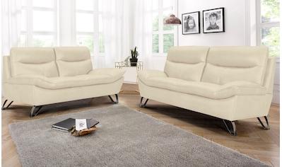Home affaire 3-Sitzer, wahlweise mit hochwertigen Leder- oder Kunstlederbezug kaufen