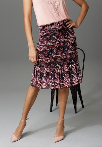 Aniston CASUAL Sommerrock, mit Blumendruck oder graphischem Muster - du hast die Wahl... kaufen