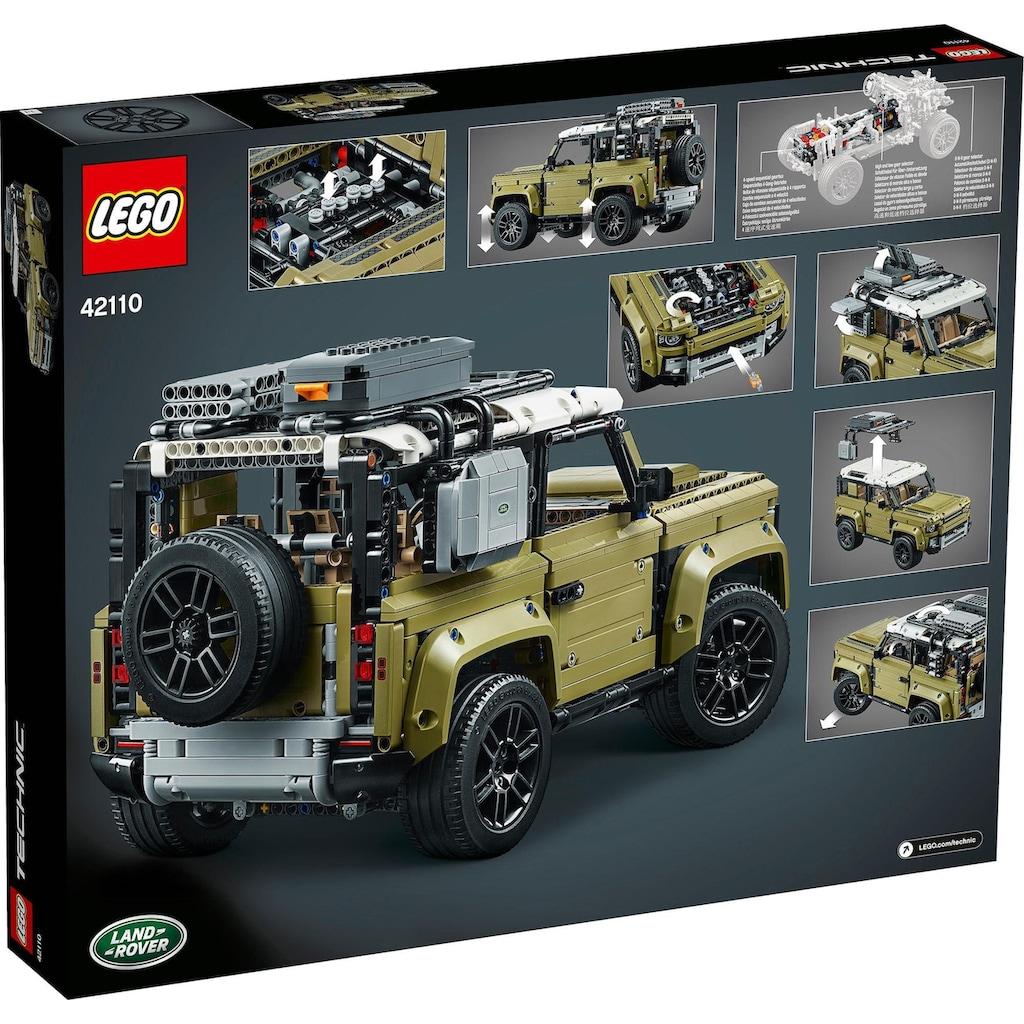 LEGO® Konstruktionsspielsteine »Land Rover Defender (42110), LEGO® Technic«, (2573 St.), Made in Europe