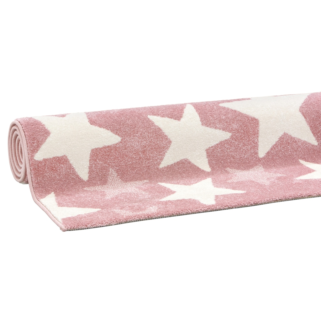Lüttenhütt Kinderteppich »Stars«, rechteckig, 13 mm Höhe, Pastell-Farben