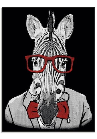 Artland Glasbild »Hipster Afrika Zebra mit Sonnenbrille« kaufen