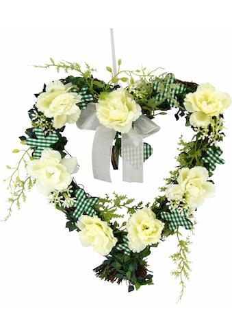Kunstpflanze »Herz Rosen 25/26 cm« kaufen