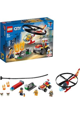 """LEGO® Konstruktionsspielsteine """"Einsatz mit dem Feuerwehrhubschrauber (60248), LEGO® City"""", Kunststoff, (93 - tlg.) kaufen"""