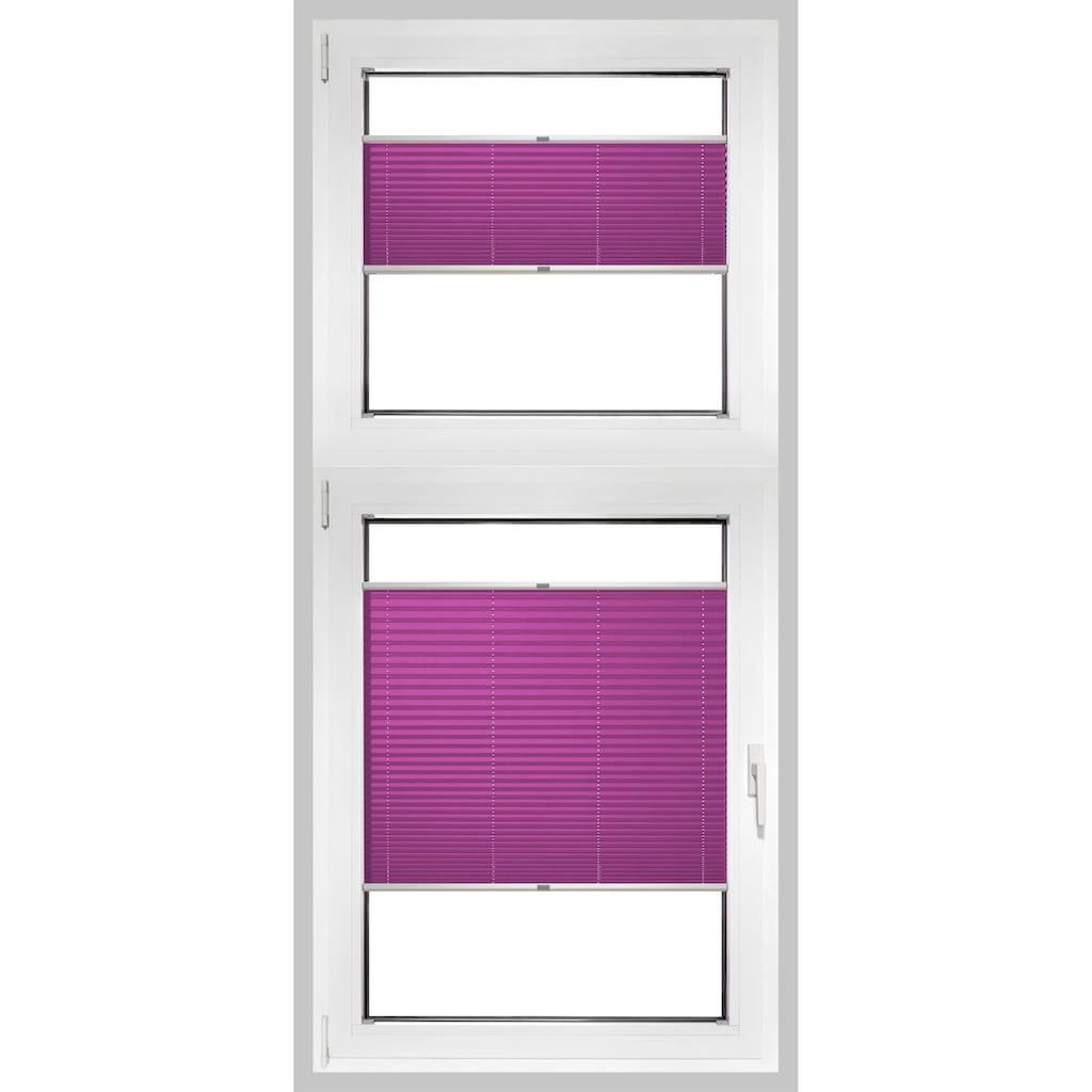 Good Life Plissee nach Mass »Rena«, Lichtschutz, Perlreflex-beschichtet, mit Bohren, verspannt, silberfarbene Profilschiene