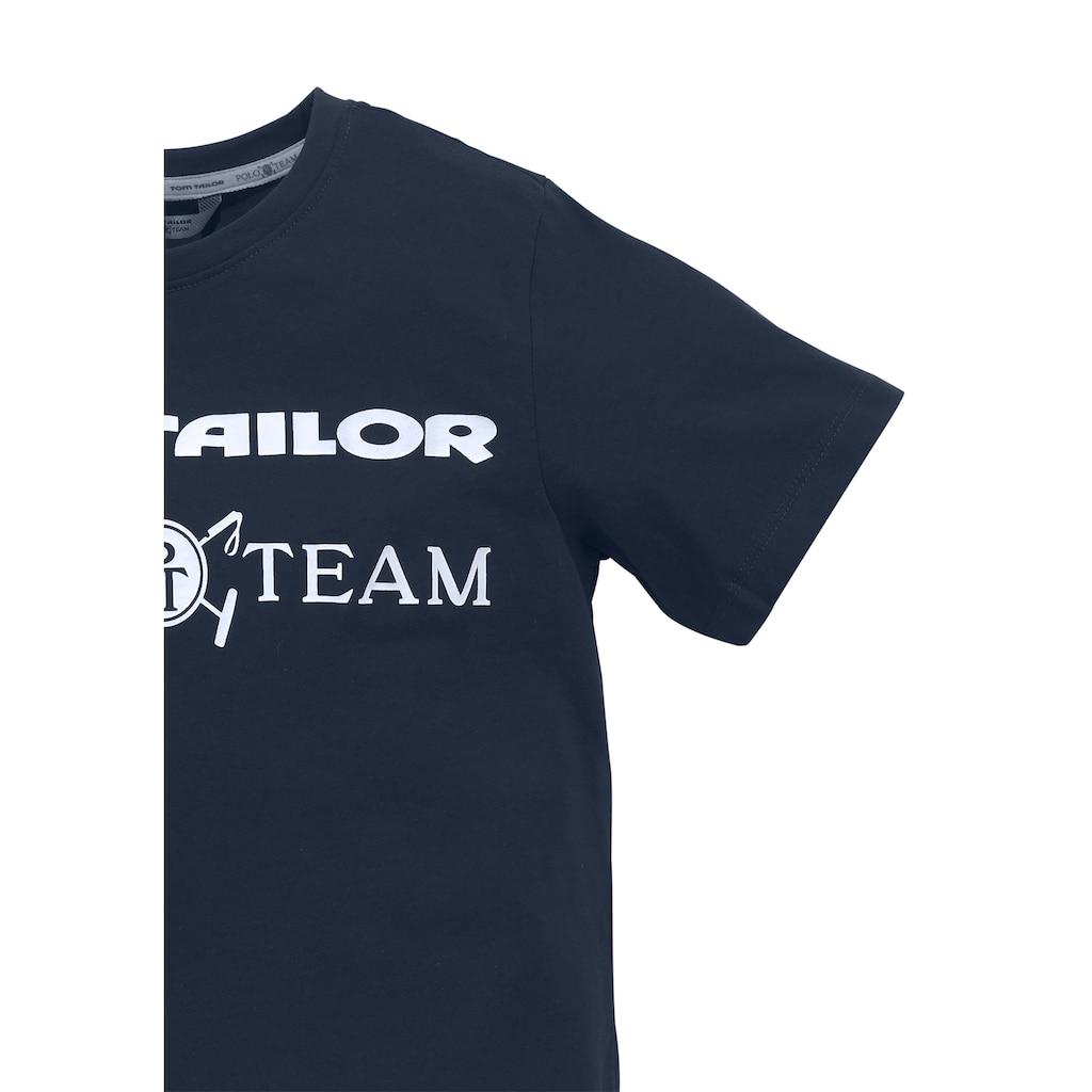 TOM TAILOR Polo Team T-Shirt, bedruckt
